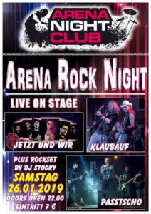Konzert Arena-Rock-Night im Zillertal 26.01.2019